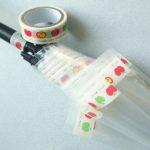 【簡単に作れる!】100均のビニール傘とマスキングテープで簡単オリジナル雨傘。